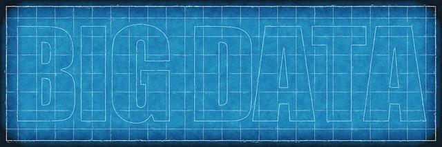 logo bleu sur le big data
